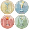 Set of 4 Big City Cocktails Stone Coasters