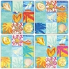 Set of 4 Beach Patchwork Stone Coasters