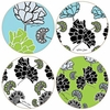Set of  4 Garden Art Stone Coasters