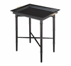 Bamboo Leg Ebony Finish Tray Table
