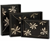 Kina Floral Trays Set of 3