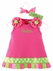 Hot Pink Little Sprout Tab Dress