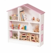 Girl's Pink and White Dollhouse/Bookcase