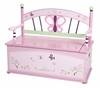 Baby Butterfly Toy Box Bench
