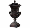 Tall Double Handled Urn With Lid