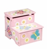 Pretty Butterfly Storage StepStool