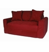 Red  Micro Suede Sofa Sleeper