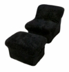 Black Cloud Chair w/Ottoman