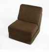 Classic Teen Chair - Brown Micro Suede