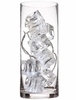 10 Clear Ice Cube Lights in Clear Vase