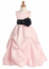 Pink Gathered Organza Dress