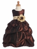 Chocolate Taffeta Dress w/ Sash Options
