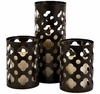 Set of 3 Norte Cutwork Candle Holders