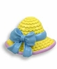 Kids' Blue Bow Sun Hat Drawer Pull