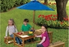 Outdoor Table & Benches w/ Umbrella