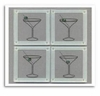 Smashing Glass Coasters - Martini Glass
