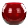 "6"" Glass Rose Bubble Ball Bowl  - Ruby"