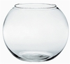 "8""  Glass Bubble Globe Bowl - Clear"