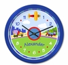 Trains, Planes,Trucks Personalized Clock