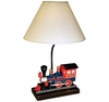 Kid's Blue and Red Train Table Lamp