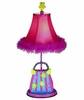 Striped Flower Purse Table Lamp