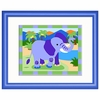 Zoo Friends Elephant Framed Print