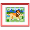 Zoo Friends Framed Lion Print