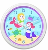 Girl's Playful Mermaids  Clock