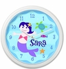 Mermaids Personalized Clock