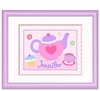 Girl's Tea Party Pot Framed Print