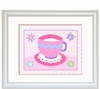 Girl's Tea Party Teacup  Framed Print