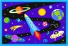 Boy's  Out of this World Printed Rug