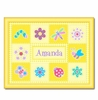 Flowerland Floral & Bugs Framed Print - Personalized