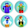 Boy's Pirates Drawer Knob Set