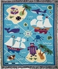 Boy's Pirates Woven Throw