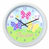 Girl's  Butterfly Garden Clock