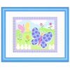 Framed Blue Butterfly Garden Print