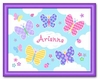 Personalized Framed Butterfly Garden Print