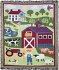 Country Farm Woven Throw