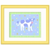 Country Baby Framed Cow Print
