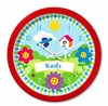 Happy Flowers Personalized Clock