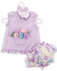 Flower Pot Pinafore and Bloomers 0-6M