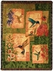 Wings and Blossoms Tapestry Throw