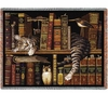 Frederick the Literate Cat Tapestry Throw