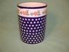 Polish Pottery Utensil Holder - Pattern 31