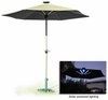 Beige Solar Umbrella with LED Light