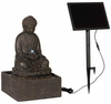 Meditating Buddha Solar LED Fountain