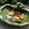 Ceramic Solar Frog Fountain with Pond