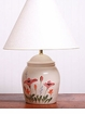 Red Poppy  Ceramic Lamp - Tall