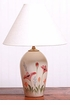 Large  Ceramic Red Poppy Lamp